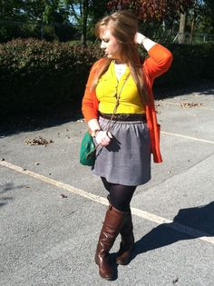 #fallfashion #frye #boots #orange #yellow opal-and-violet.blogspot.com