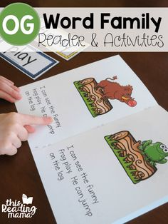 FREE OG Word Family Reader and Activities from Learn to Read - This Reading Mama