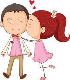 Valentines day cartoon man and woman kiss surprise Love Couple Cartoon Images, Cute Couple Pictures, Valentines Day Cartoons, Valentine Cartoon, Good Morning Love You, Couple Clipart, Use E Abuse, Cartoon Man, Clip Art