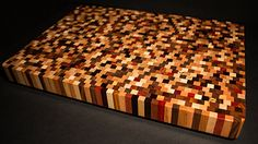 Beautiful Handcrafted End Grain Multiwood Countertop Cutting