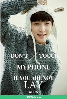Lay (Exo) Lockscreen wallpaper Copyrighted Cr. To the owner