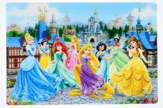 Disney Parks Princesses Lenticular Kitchen Placemat New