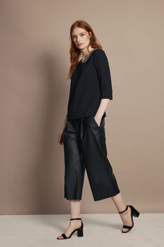 How to wear leather culottes These Great Plains Chicago Faux Leather Culottes are available at Attic Womenswear