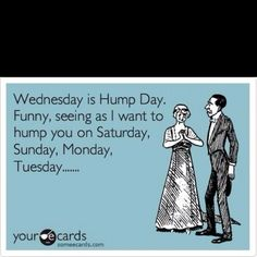 Lovely Free And Funny Flirting Ecard: Wednesday Is Hump Day. Funny, Seeing As I  Want To Hump You On Saturday, Sunday, Monday, Tuesday. Freaky Hump Day  Quotes By