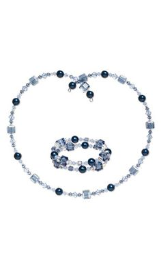 Memory Wire Necklace and Bracelet Set with SWAROVSKI ELEMENTS - Fire Mountain Gems and Beads