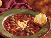 this is my go-to chili recipe with a few minor adjustments (chili beans instead of regular kidney, a handful of corn, and ground turkey instead of beef). A favorite of the family and very easy