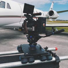 Epic backdrop for an epic camera setup! ✈️ Sweet Shot by @yungguapp #inspiration #videogear #videoproduction #redepicdragon #cameraoperator #vscophile #vscocam #filming #filmmaker #filmmaking #onset #lovethis #lovewhatyoudo #dowhatyoulove