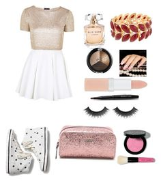 """""""Nice dress"""" by coolgirl103 ❤ liked on Polyvore featuring Keds, Topshop, Elie Saab, Rimmel, Mary Kay, Bobbi Brown Cosmetics and Kate Spade"""