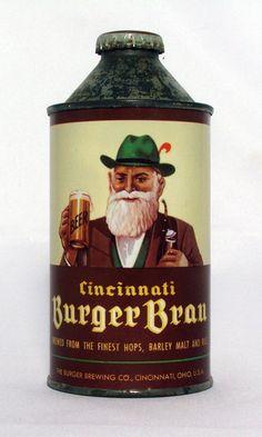 Scarce Burger Brau Beer 12 oz Cone Top Beer Can Cincinnati Ohio   eBay