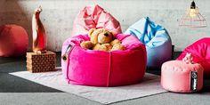Bean bag for children Minky - Jabba Design showroom. Teak, Bean Bag Chair, Showroom, Furniture, Space, Children, Fun, Design, Home Decor