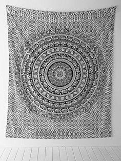 Handicrunch Elephant Mandala Tapestry, Hippie Tapestries, Wall Tapestries, Tapestry Wall Hanging, Indian Tapestry, Bohemian Bedding Psychedelic tapestry Size 95 x 85 Inch's Jaipur Handloom http://smile.amazon.com/dp/B00PKLOPN2/ref=cm_sw_r_pi_dp_ky9Jwb03ZA8BH