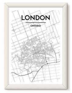 Ontario London, Ontario City, London Map, City Maps, Great Memories, Best Cities, Map Art, Custom Art
