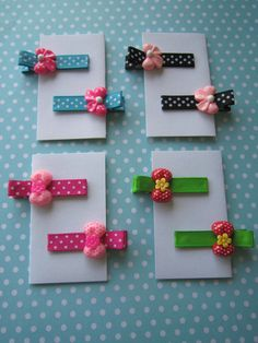 Girls hair clips bow barrettes Turquoise by LOVEandMagicalCharm, $5.49