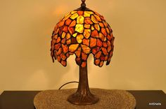 Amber Lamp that is made to look Tiffany Like. :)