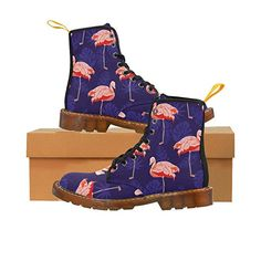 Fashion Women's Shoes Lace Up Boots Martin Boots for Girl With Red Flamingo in Clothing, Shoes & Accessories, Women's Shoes, Boots Flamingo Shoes, Flamingo Decor, Pink Flamingos, Flamingo Cake, Flamingo Print, Floral Combat Boots, Lace Up Boots, Flamingo Costume, Pink Bird