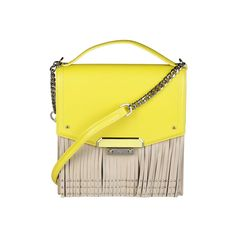 Crossbody Bag, Nude, Shoulder Bag, Zip, Yellow, Leather, Bags, Collection, Products