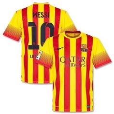 NEW 2013-14 BARCELONA AWAY MESSI #10 SOCCER JERSEY FOOTBALL SHIRT (UK SMALL): Amazon.co.uk: Sports & Outdoors