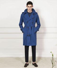 Men's Aquascutum Cobalt Blue Trench Coat