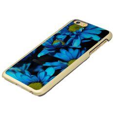 Blue daisy flowers in a macro lens photograph.