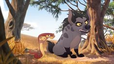 Here is a shot of Janja and Ushari from The Lion Guard. The Lion Guard Ushari Disney And Dreamworks, Disney Pixar, Tom And Jerry Show, Walt Disney Pictures, Hyena, Animated Cartoons, Disney Animation, Movie Characters, Furry Art