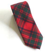 Mens Vintage Mackintosh Clan Tartan Plaid 100% Wool Tie Necktie Made In Scotland #Unknown #Tie