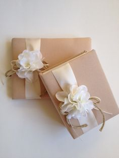 Wedding Guest Book and Photo Album Gift Set  White by CoutureLife, $68.99