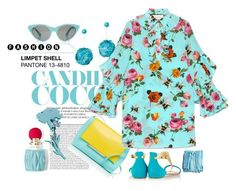 """""""Color of Fashion: Limpet Shell"""" by harperleo ❤ liked on Polyvore featuring Miu Miu, Delpozo, Opening Ceremony, Gucci, Christian Louboutin and Illamasqua"""