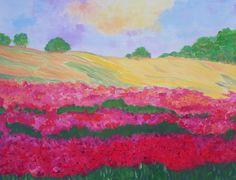 Poppy Field  Flowers by Elizabeth Janus