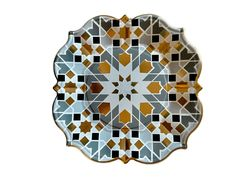 gray-geo-gold Pastel Sky, Silk Road, Grey And Gold, Jewel Tones, Paper Plates, Gold Foil, Porcelain, Silver, Eid