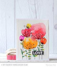 Sketched Blooms, So Much Love, Wonky Stitched Rectangle STAX Die-namics - Yoonsun Hur  #mftstamps