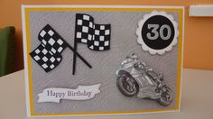 30th Birthday card for someone who loves motorcycle racing