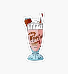 'Pop's Milkshake / Riverdale' Sticker by klutterschmidt <br> Millions of unique designs by independent artists. Find your thing. Tumblr Stickers, Cool Stickers, Riverdale Tumblr, Riverdale Aesthetic, Pop S, Aesthetic Stickers, Wall Collage, Netflix, Iphone Wallpaper