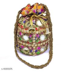Checkout this latest Pouches & Potlis Product Name: *Stylish Women's Multicolor Fabric Potlis* Material: Fabric Pattern: Embroidered Multipack: 1 Sizes:  Free Size (Length Size: 8 cm, Width Size: 7 cm)  Country of Origin: India Easy Returns Available In Case Of Any Issue   Catalog Rating: ★4.3 (261)  Catalog Name: Graceful Fancy Women Potlis CatalogID_924358 C73-SC1077 Code: 002-6080976-093