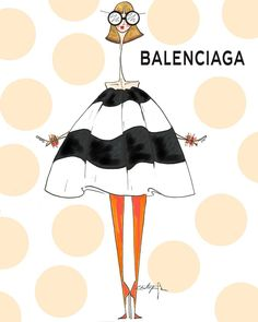 "100 Likes, 6 Comments - CHRIS NEVIN (@chrisjnevin) on Instagram: ""Oui oui. Chic chic @balenciaga #balenciaga #fall2017 #fashionillustration #fashion…"""