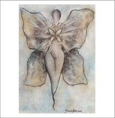 Butterfly winged goddess by Stacie Anthony