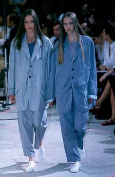 ♥ blue ☮ #jeans ☮ / Yohji Yamamoto, Spring 1999