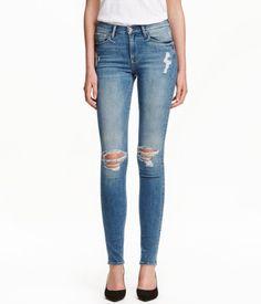 Skinny Regular Jeans   Deniminsininen   Ladies   H&M FI
