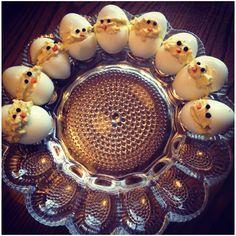 My deviled egg Easter chicks!!