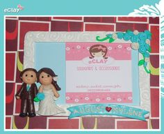 wedding souvenirs, photoframe, handcrafted, eclay