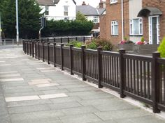 Fensys UPVC plastic range - picket - balustrade fencing for sports arenas - horse ménage - football and rugby grounds - race courses - home gardens - commercial - theme parks - schools - day care centres