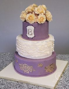Wedding Cake by Becca Berindei made as part of The French Pastry School's L'Art du Gâteau program.