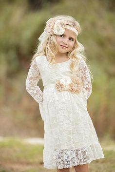 Flower Girl Dress, Ivory Flower Girl dress, flower girl dress Ivory, Flower Girl dresses cheap, flower girl dress macys, flower girl dresses, rustic flower girl dress, rustic wedding dress, country flower girl dress, country wedding dress, Ivory Lace flower girl