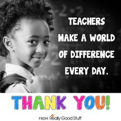 Thank a Teacher for Teacher Appreciation Week