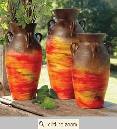 Sunset Pottery Vases