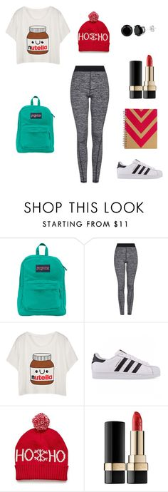 """""""School #6"""" by livvy-loves-pizza ❤ liked on Polyvore featuring JanSport, Topshop, adidas Originals, Dolce&Gabbana, women's clothing, women's fashion, women, female, woman and misses"""
