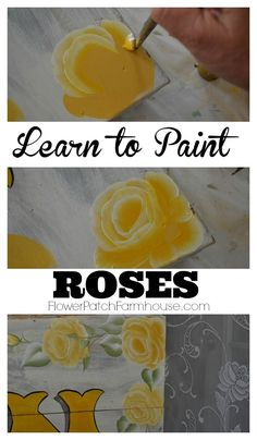 Paint Yellow Roses Learn how to Paint Roses, a step by step free tutorial with video. Paint beautiful roses in no time. Learn how to Paint Roses, a step by step free tutorial with video. Paint beautiful roses in no time. Painting & Drawing, Painting Lessons, Tole Painting, Painting Tips, Watercolor Paintings, Roses Painting Acrylic, Canvas Painting Nature, Acylic Painting Ideas, Art Lessons