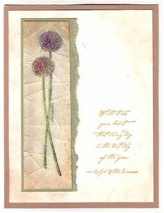 long stemmed card
