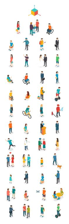 "Drawing People ""Isometric People"" // Gleb Tagirov via Behance - People Illustration, Character Illustration, Illustration Art, Isometric Art, Isometric Design, Architecture People, Architecture Drawings, Architecture Panel, Architecture Portfolio"