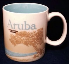 Starbucks Aruba Coffee Cup Mug 16 ounces Authentic Global Icon Collectors Series