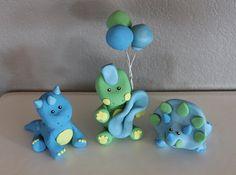 3 Custom Dinosaur Cake Topper for Birthday or Baby Shower